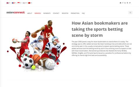 Screenshot of Services Page asianconnect88.com - Asianconnect Betting Brokerage ibcbet sbobet pinnacle sports - captured Nov. 25, 2016