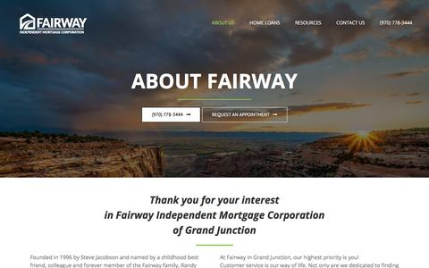 Screenshot of About Page getyourmortgagenow.com - About - Fairway - captured July 14, 2018