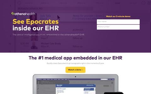 Screenshot of Landing Page athenahealth.com - Let Doctors Be Doctors | athenahealth - captured April 3, 2017