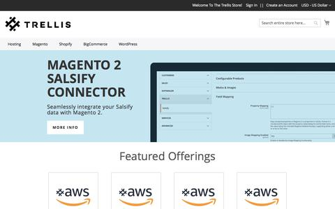 Screenshot of Products Page trellis.co - Magento, Shopify, Bigcommerce & Hosting Products By Trellis - captured July 4, 2019