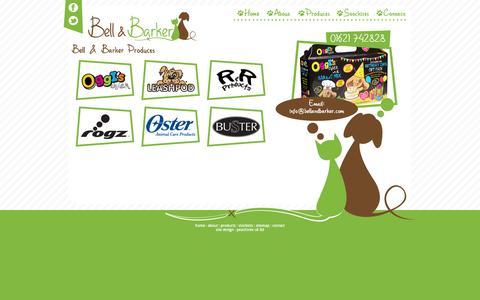 Screenshot of Products Page bellandbarker.com - Products | Bell & Barker - captured Oct. 5, 2014
