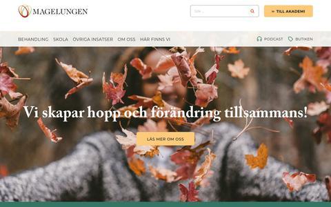Screenshot of Home Page magelungen.com - Välkommen till Magelungen - Magelungen - captured Oct. 28, 2018