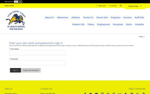 Screenshot of Login Page smsdk12.org - Sign In - captured Oct. 20, 2018