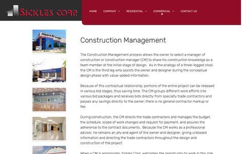 Screenshot of Team Page sicklescorp.com - Management - captured Dec. 19, 2016