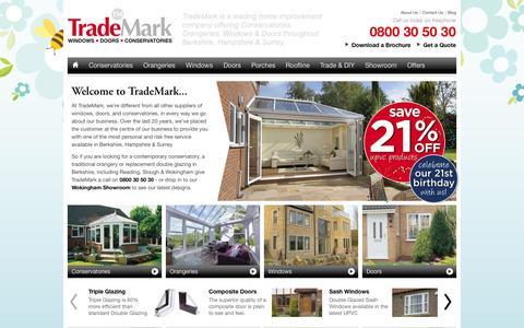Screenshot of Home Page Site Map Page trademarkwindows.co.uk - Conservatories Wokingham | Double Glazing Berkshire | TradeMark Windows - captured Oct. 7, 2014