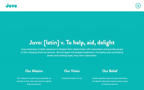 Screenshot of About Page juvo.com - About Us - Juvo - captured March 9, 2017