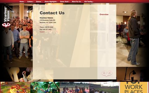 Screenshot of Contact Page vvisions.com - Contact Us - captured Sept. 16, 2016