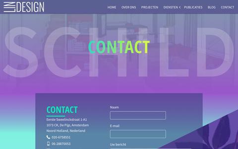 Screenshot of Contact Page lin-design.nl - Contact Interieurarchitect & industrieel Ontwerp Bureau Amsterdam - captured Oct. 28, 2018