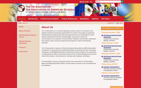 Screenshot of About Page tri-association.org - Tri Association: About Us - captured Oct. 22, 2018