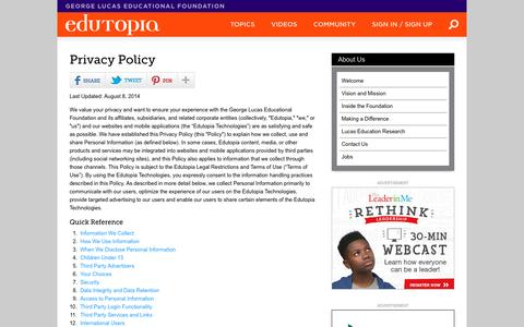 Privacy Policy | Edutopia