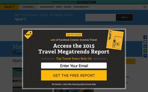 Screenshot of Press Page skift.com - Online and Mobile Media Company and Startup News by Skift - captured Oct. 14, 2015