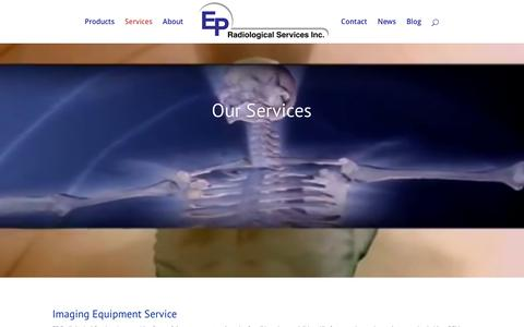 Screenshot of Services Page epradinc.com - Services - EP Radiological Services - captured Oct. 10, 2016