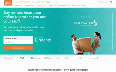 Renters insurance quotes | Compare and buy online