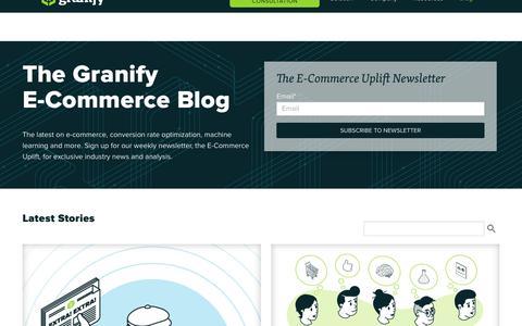 Screenshot of Blog granify.com - E-Commerce Revenue Optimization Blog - captured Nov. 13, 2017