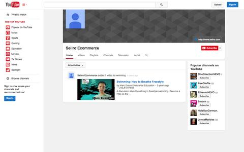 Screenshot of YouTube Page youtube.com - Sellro Ecommerce  - YouTube - captured Oct. 23, 2014