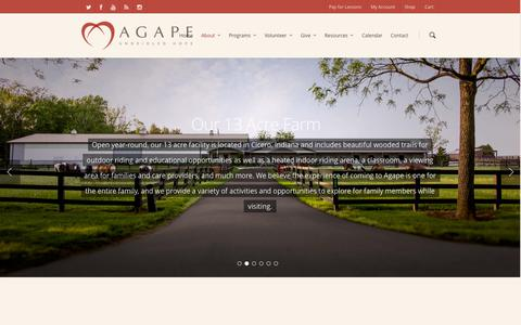 Screenshot of About Page agaperiding.org - About | Agape | Agape - captured Oct. 4, 2014