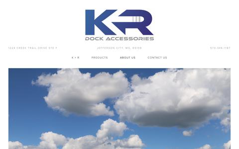 Screenshot of About Page krmfg.com - About Us — K & R Manufacturing - captured Sept. 30, 2018
