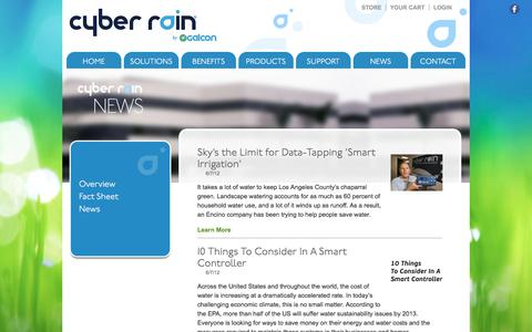 Screenshot of Press Page cyber-rain.com - Cyber Rain News, Remote Irrigation Controllers, Smart Irrigation Solutions, Wireless Sprinkler System - captured Dec. 20, 2019