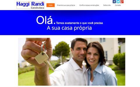 Screenshot of Home Page haggirandiconstrutora.com - Haggi Randi Construtora - Adquira hoje mesmo sua casa própria - captured Sept. 26, 2014