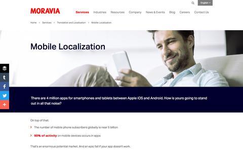 Mobile Localization - Moravia