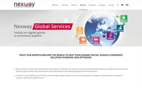 Screenshot of Services Page nexway.com - Nexway | Nexway Global Services - captured May 25, 2016