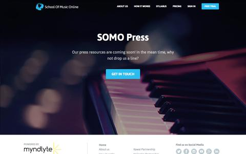Screenshot of Press Page schoolofmusiconline.com - School of Music Online - captured Sept. 29, 2014