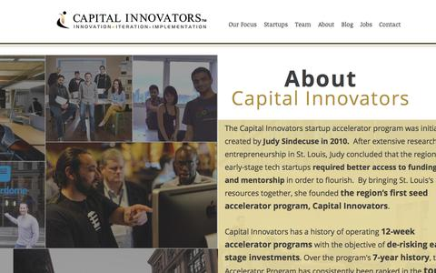 Screenshot of About Page capitalinnovators.com - About Us – Capital Innovators - captured July 27, 2019