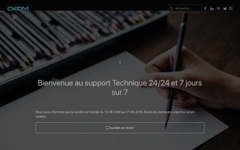 Screenshot of Support Page ckomparis.com - Création de site internet à Neuilly sur Seine et Paris - Support - captured Nov. 3, 2018