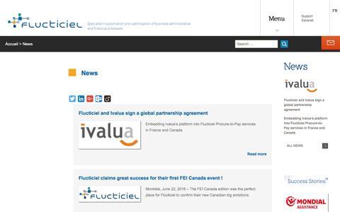Screenshot of Press Page flucticiel.com - News - captured Oct. 30, 2016