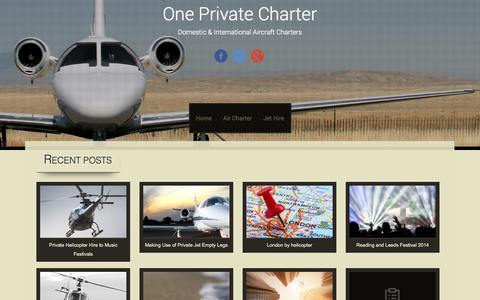 Screenshot of Blog oneprivatecharter.co.uk - One Private Charter | Domestic & International Aircraft Charters - captured Sept. 30, 2014