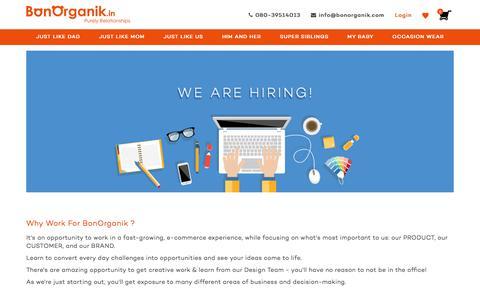 Screenshot of Jobs Page bonorganik.in - We are hiring – bonorganik.in - captured June 2, 2017