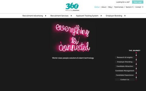 Screenshot of Home Page 360resourcing.co.uk - Home - 360 Resourcing Solutions - captured June 12, 2019