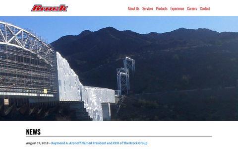 Screenshot of Press Page brockgroup.com - News - Brock Group - captured Oct. 6, 2018