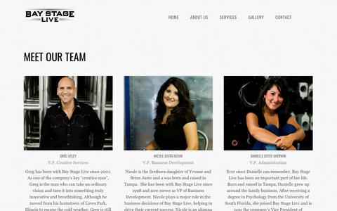 Screenshot of Team Page baystagelive.com - Our Team | Bay Stage Live - captured Jan. 8, 2018