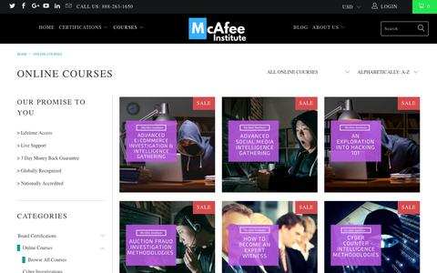 Online Courses - McAfee Institute