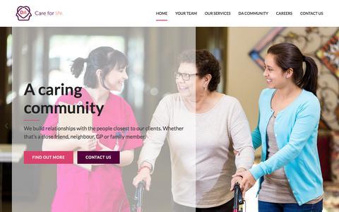 Screenshot of Home Page diagonalalternatives.com - Care Companions Newcastle | Diagonal Alternatives - captured Sept. 24, 2018