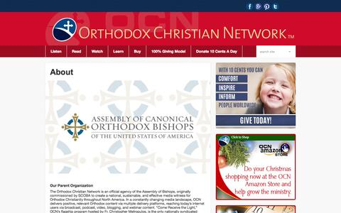 Screenshot of About Page myocn.net - About The Orthodox Christian Network - captured Oct. 26, 2014