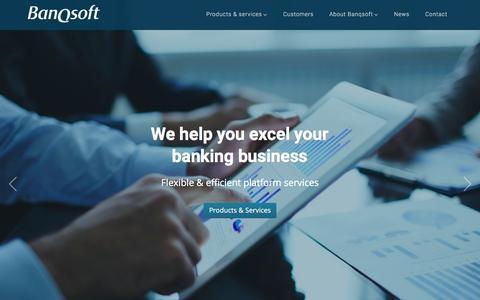 Screenshot of Home Page banqsoft.se - Frontpage - BanqSoft - captured April 13, 2016