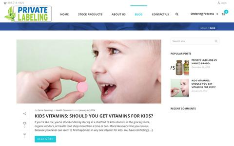 Blog - Private Label Supplements and Vitamins