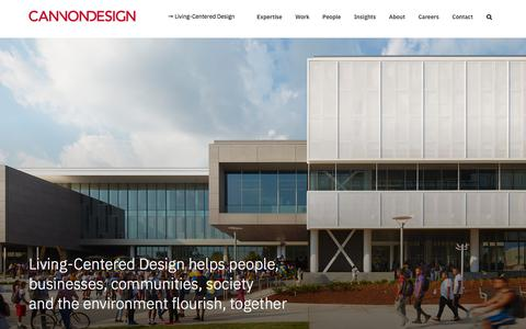 Screenshot of Home Page cannondesign.com - Global Architecture, Engineering & Design Firm | CannonDesign - captured Jan. 30, 2020