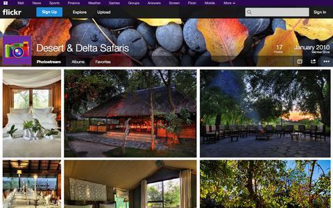 Screenshot of Flickr Page flickr.com - Flickr: Desert & Delta Safaris' Photostream - captured Oct. 25, 2014