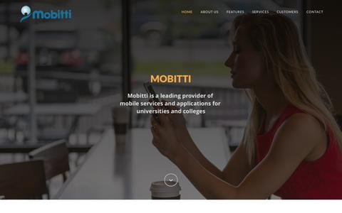 Screenshot of Home Page mobitti.com - Mobitti - Mobile services and applications for Universities and Colleges - higher education institutions - captured Nov. 22, 2015