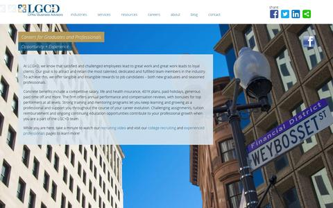Screenshot of Jobs Page lgcd.com - Careers for Graduates and Professionals - CPA Firm Providence | LGC+D - captured Sept. 26, 2014