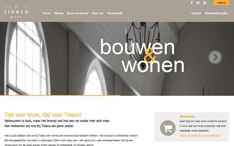 Screenshot of Home Page tisaco.nl - Tisaco | Homepage - captured Oct. 7, 2014