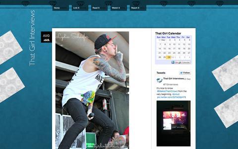 Screenshot of Home Page thatgirlinterviews.com - www.thatgirlinterviews.com - captured Sept. 30, 2014