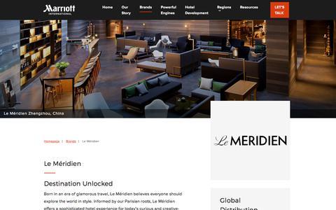 Screenshot of Developers Page marriott.com - Le Méridien - Marriott Hotels Development - captured July 17, 2018