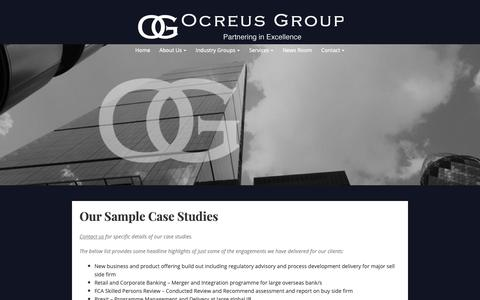 Screenshot of Case Studies Page ocreus.com - Case Studies – Ocreus Group - captured Oct. 20, 2018