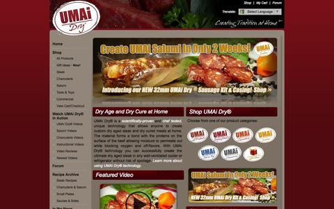 Screenshot of Home Page drybagsteak.com - Dry Age Steak At Home - Dry Aging Beef - Charcuterie & Salumi Kits - captured Sept. 23, 2014