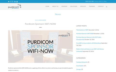 Screenshot of Press Page purdi.com - News Archives - Purdicom - captured Nov. 15, 2016