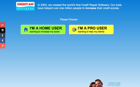 Screenshot of Home Page credit-aid.com - Credit Repair Software from Credit-Aid | Seen on CNN | FREE Demo! - captured Oct. 25, 2017